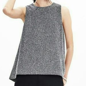 Banana Republic Tweed Trapeze Sleeveless Top